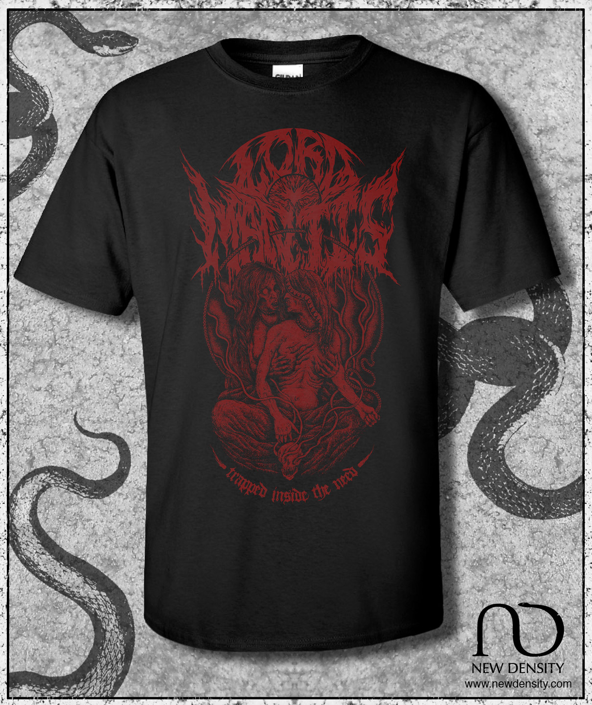 Lord Mantis – Trapped Inside The Need Shirt (Red/Black) – New Density
